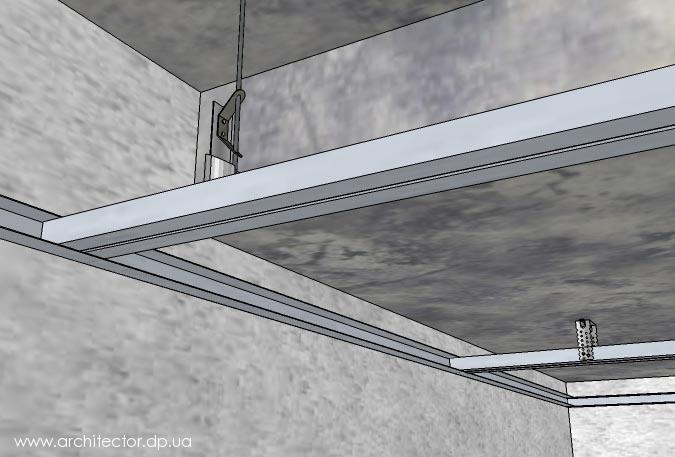 Гипсокартон потолок