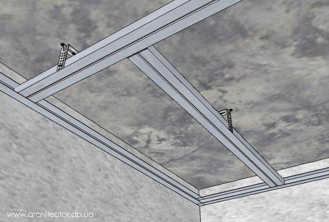 Как сделать потолок из гипсокартона?