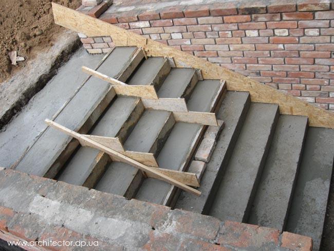 Литье бетона, бетонирование, лестница. - Сделай сам своими руками