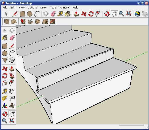 Как в sketchup сделать лестницу