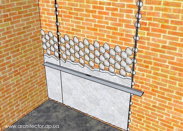 Выравнивание стены по маякам при помощи Ротбанда (Rotband) - Парфенон-Тула