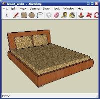 Sketchup  -  кровать