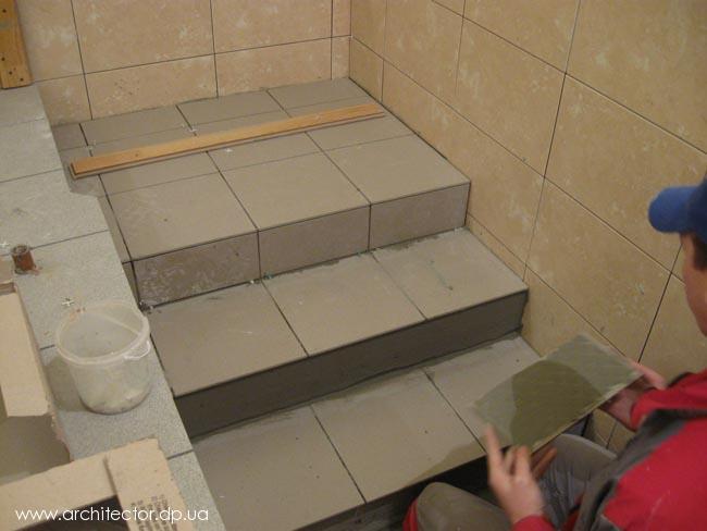 Плитка для лестницы своими руками 560
