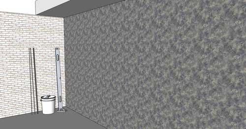 Штукатурка стен с помощью маяков. Фото.